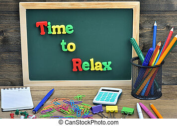 Time to relax word