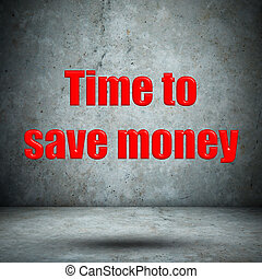 Time to save money concrete wall