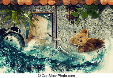 Time to say Goodbye! Abstract touristic backgrounds for your design