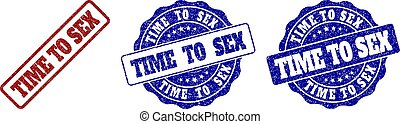 TIME TO SEX Scratched Stamp Seals