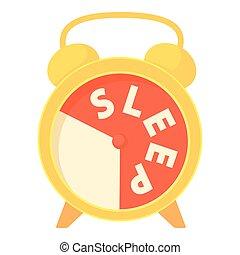 Time to sleep icon, cartoon style - Time to sleep icon....