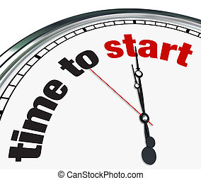 Time to Start - Clock Countdown Moment to Begin - An ornate...