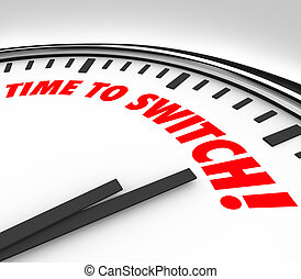 Time to Switch Clock Words Change Reverse Course