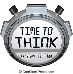 Time to Think Stopwatch Timer Creative Thought - The words...