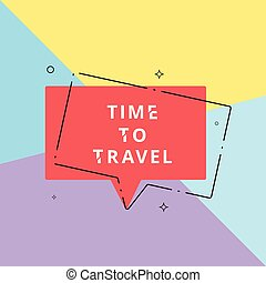 Time to Travel banner. Vector illustration.