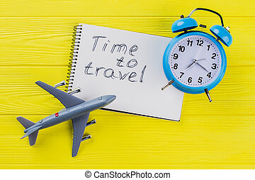 Time to travel concept.