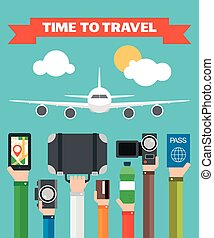 Time to Travel Flat illustration