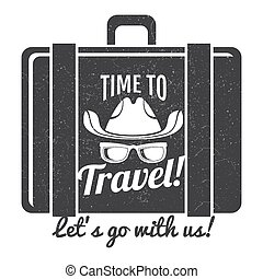 Time to travel grunge logo design