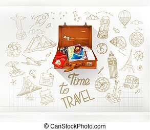 Time to Travel, infographics vector