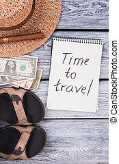 Time to travel vacation concept.