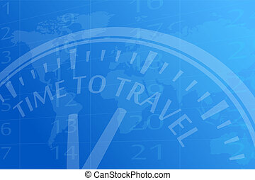 Time to travel vector background illustration
