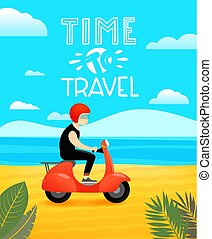 Time to travel vector illustration