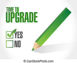 time to upgrade approval sign concept illustration design...