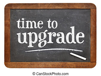 Time to upgrade reminder on blackboard - Time to upgrade...