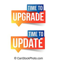 Time to upgrade update sign label