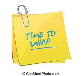 time to win memo illustration design