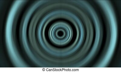 Time Tunnel, blue rotation circle light trails in 3D space