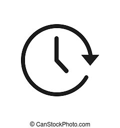 Time vector icon in modern design style for web site and mobile app