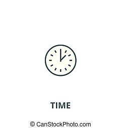Time vector line icon, linear concept, outline sign, symbol