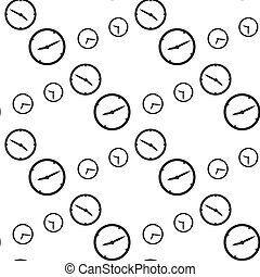 time, vector seamless pattern, Editable can be used for web...
