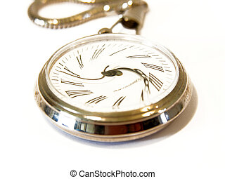 Time warp - Pocket watch with face twisted