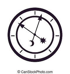 time watch fairytale object isolated icon vector ...