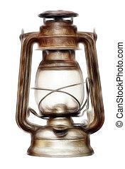 time-worn, petróleum lámpa