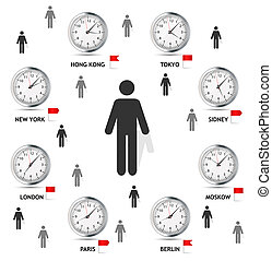 Time Zone World vector illustration