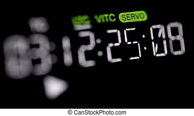 Timecode running on the professional vcr.
