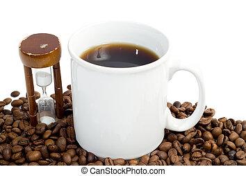Timed Coffee Break - Concept image of a timed coffee break, ...