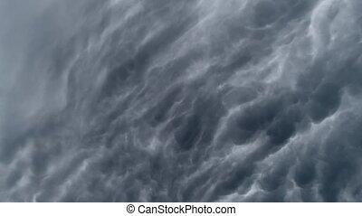 timelaps., ég, felhős