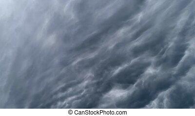 timelaps., ciel, nuageux