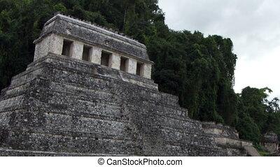 timelapse, 21, chiapas, december, mexico., mayan, evenementen, testament, palenque, transformative, 2012., geloven, ruïnes, geschieden, mayans
