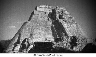 timelapse, 21, décembre, mexico., maya, uxmal, volonté, ...
