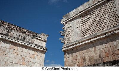 timelapse, 21, december, mexico., mayan, uxmal, testament, evenementen, transformative, 2012., geloven, ruïnes, geschieden, mayans