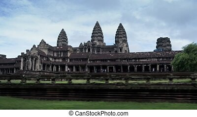 Timelapse Abstract of Tourists Visiting the Famous Angkor...