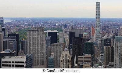 Timelapse aerial of midtown Manhattan - A Timelapse aerial...