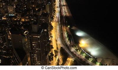 Timelapse aerial of the Chcago skyline