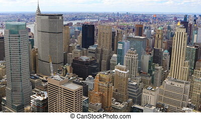 Timelapse aerial of the midtown Manhattan area