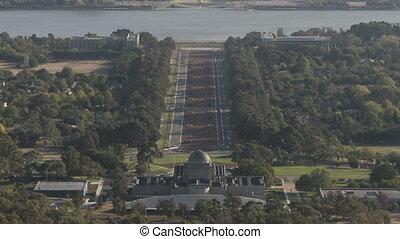 Timelapse aerialview Canberra - Timelapse Australian...