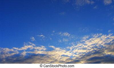 timelapse altocumulus clouds