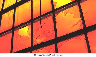 timelapse., apocalipse, janela.