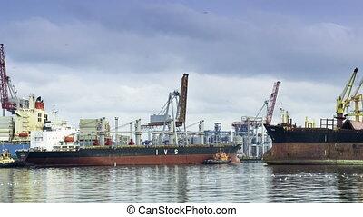 timelapse, bateaux, port, crago