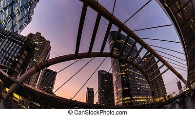 Timelapse : Beautiful cityscape.