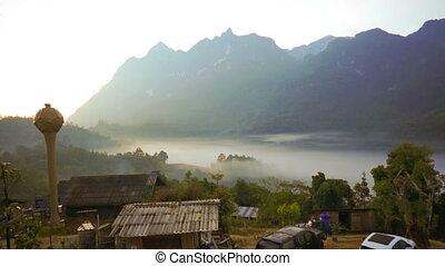 Timelapse : Beautiful mountain.