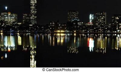 Timelapse Boston Skyline riverside - HD 1080p - Timelapse...