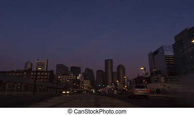 HD 1080p - Timelapse overlooking the skyline of Boston, Massachusetts, USA