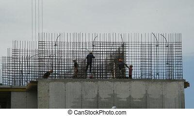 Timelapse: Builders reinforce reinforcement