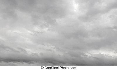 timelapse, céu, nublado