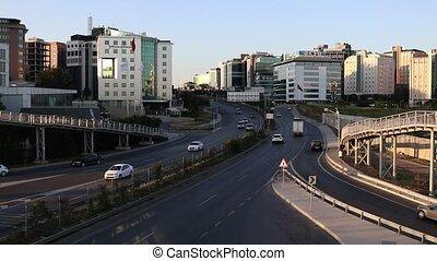 Timelapse Cars Traffic, Cekmekoy Avenue in Istanbul